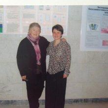 Профессор Шамшинова Анжелика Михайловна и Зольникова Инна Владимировна (Россия).